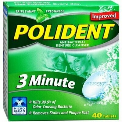 Polident 3 Minute Tablets 40 each