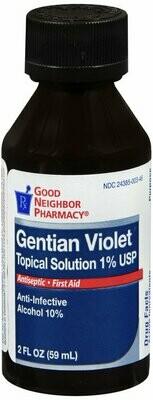 GNP GENTIAN 1% VIOLET LIQUID 2 OZ