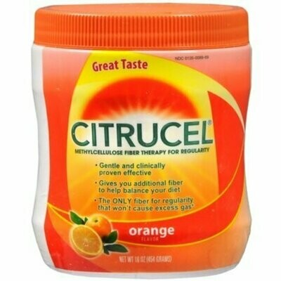 Citrucel Powder Orange Flavor 16 oz