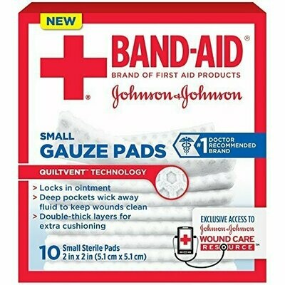 Band-Aid First Aid Gauze Pads, Small, 10 Count
