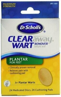 SCHOLLS CLEAR AWAY PLANTAR PATCH 24CT