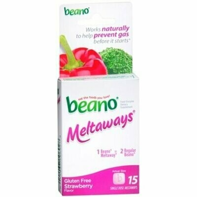 Beano Meltaways Strawberry 15 pack