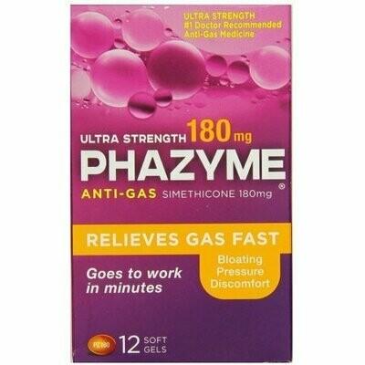 Phazyme Ultra Strength Anti-Gas 180 mg Softgels 12 Soft Gels