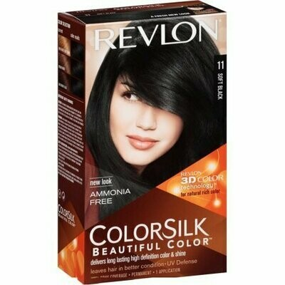 Revlon ColorSilk Beautiful Color, Soft Black [11] 1 each