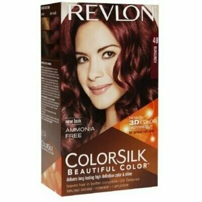 Revlon ColorSilk Hair Color, 48 Burgundy 1 each