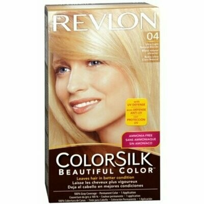 Revlon ColorSilk Beautiful Permanent Color, Ultra Light Natural Blonde 04 1 Each