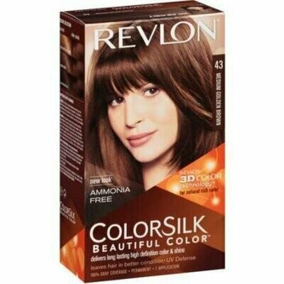 Revlon ColorSilk Hair Color [43] Medium Golden Brown 1 each
