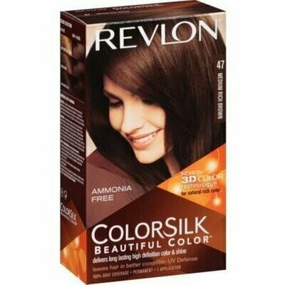 Revlon ColorSilk Hair Color [47], Medium Rich Brown 1 each