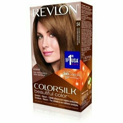 Revlon ColorSilk Hair Color 54 Light Golden Brown 1 Each