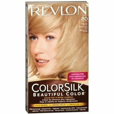 Revlon ColorSilk Hair Color 80 Light Ash Blonde 1 Each
