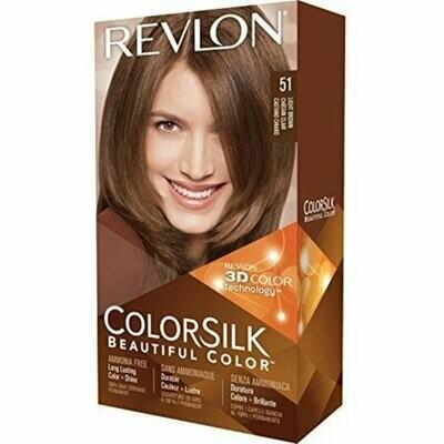 Revlon ColorSilk Hair Color, 51 Light Brown 1 each