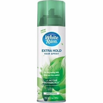 White Rain Aerosol Hairspray Unscented, Extra Hold 7 oz