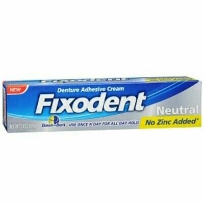 Fixodent Denture Adhesive Cream Neutral 2.4 oz