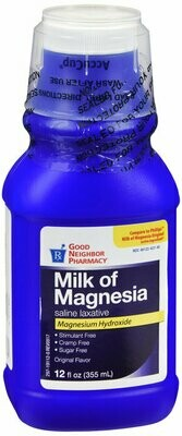 GNP MILK OF MAGNESIA ORIGINAL LIQUID 12OZ