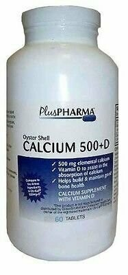 Oyster Shell Calcium 500mg Tablets 60ct
