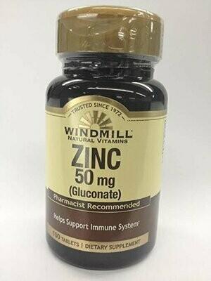 ZINC TAB GLUCONATE 50 MG WINDMILL Size: 100