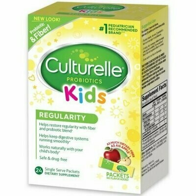 Culturelle Kids Regularity Flavorless Probiotic Powder Packets 24 Pack