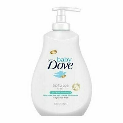 Dove Baby Tip To Toe Body Wash, Sensitive Moisture, 13 Oz