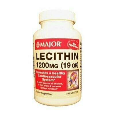 SOY LECITHIN 1200MG 100ct SOFTGELS