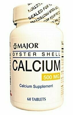 MAJOR OYSTER SHELL CALCIUM 500MG TABS OYSTER SHELL-500 MG White 60 TABLETS