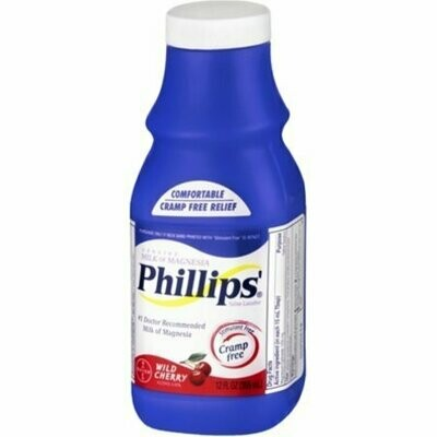 Phillips' Milk of Magnesia Wild Cherry 12 oz