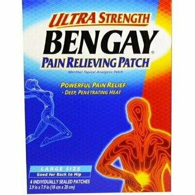 BENGAY Ultra Strength Pain Relieving Patches Large Size 4 Each