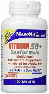 Mason Vitamins Vitrum 50 Plus Multi Tablets, 60 Count