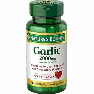 Nature's Bounty Garlic 2000mg, Tablets 120 each