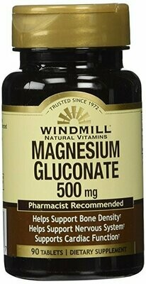 Magnesium Gluconate 500 Mg 90 Tab - From Windmill