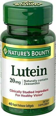 Nature's Bounty Lutein 20mg, 40 Softgels
