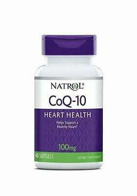 Natrol CoQ-10 100mg Softgels, 45 Count
