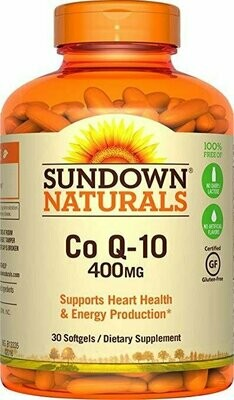 Sundown Naturals Co Q-10 400 mg, 30 Softgels