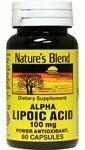 Nature's Blend Alpha Lipoic Acid 100 mg 60 Capsules
