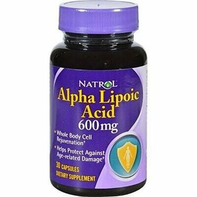 Natrol Alpha Lipoic Acid 600 Mg, 30 count