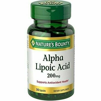 Nature's Bounty Alpha Lipoic Acid 200 mg 30 Capsules