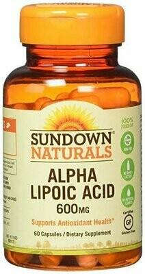 Sundown Naturals Super Alpha Lipoic Acid, 600mg, Capsules 60 each