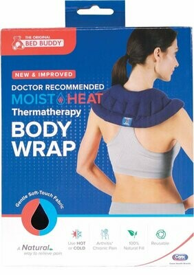Carex, Bed Buddy Body Wrap, Flexible Soft Fabric Filled with Natural Grains for Hot or Cold Therapy