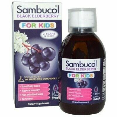 Sambucol Black Elderberry Kids Syrup, 7.8 oz