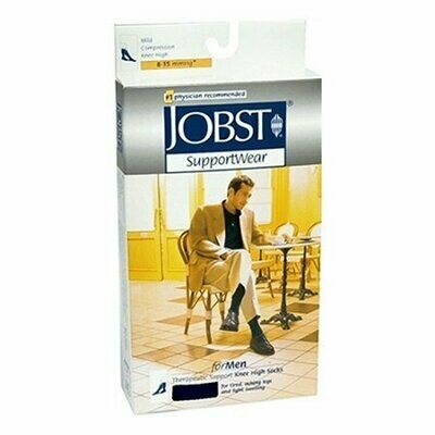 Jobst Mens Light Weight Dress Socks, 8-15 Mm / Hg Compression, Black, X-Large -1 Each
