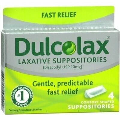 Dulcolax Suppositories 4 Each