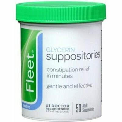 Fleet Glycerin Suppositories Adult 50 Each