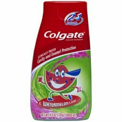 Colgate Kids 2-in-1 Toothpaste and Mouthwash Watermelon 4.60 oz