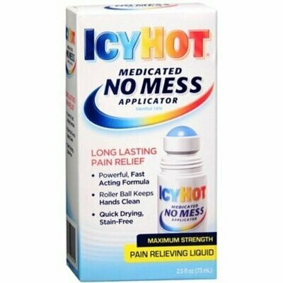 ICY HOT Medicated No Mess Applicator Pain Relieving Liquid 2.50 oz