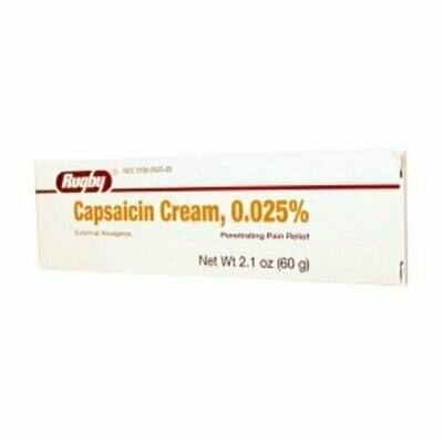 Rugby Capsaicin 0.025% Cream 2.1 Oz