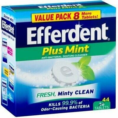 Efferdent Plus Mint Anti-Bacterial Denture Cleanser Tablets 44 each