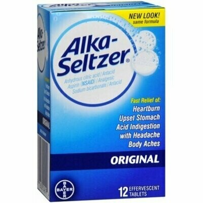 Alka-Seltzer Effervescent Tablets Original 12 each