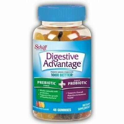 Digestive Advantage Prebiotic Fiber Plus Probiotic Gummies 48 pack