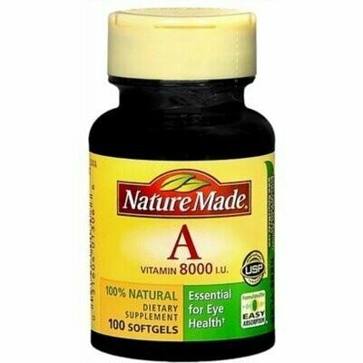 Nature Made Vitamin A Softgels, 100ct