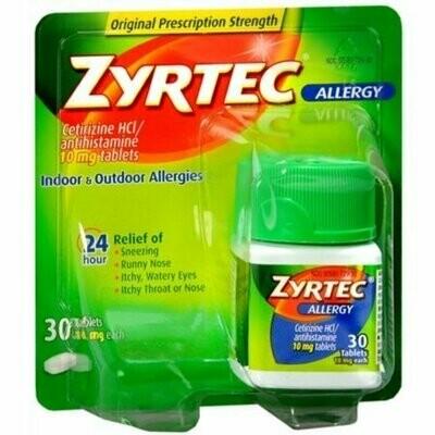 Zyrtec Allergy 10 mg Tablets 30 each