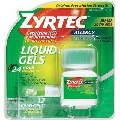 Zyrtec Allergy 10 mg Liquid Gels 12 each